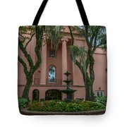 College Courtyard Tote Bag