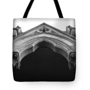 College Hall Entry - Black And White Tote Bag