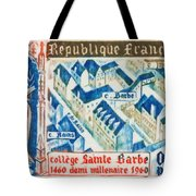 College Of St. Barbe 1460-1960 Half A Millennium Tote Bag