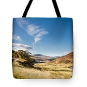 College Valley And Lambden Burn Tote Bag
