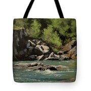 Colliding Rivers Tote Bag
