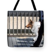 Collie Walk Tote Bag