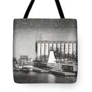 Collingwood Terminals In Old Days Tote Bag