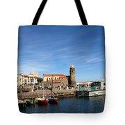Collioure Boats Tote Bag