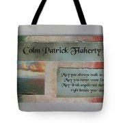 Colm Irish Name Plate Tote Bag