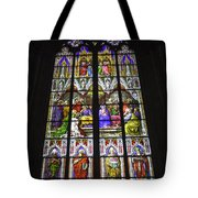 Cologne Cathedral Stained Glass Window Of Pentecost Tote Bag