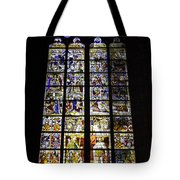 Cologne Cathedral Stained Glass Window Of St Peter And Tree Of Jesse Tote Bag