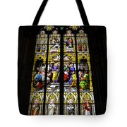 Cologne Cathedral Stained Glass Window Of St Peter Tote Bag