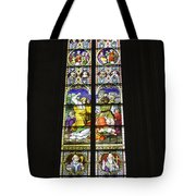 Cologne Cathedral Stained Glass Window Of St. Stephen Tote Bag