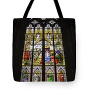 Cologne Cathedral Stained Glass Window Of The Adoration Of The Magi Tote Bag