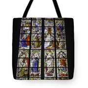 Cologne Cathedral Stained Glass Window Of The Three Holy Kings Tote Bag