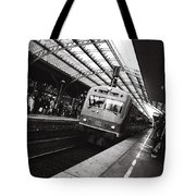 Cologne Trainstation Tote Bag by Jimmy Karlsson