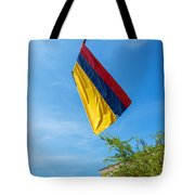 Colombian Flag And Blue Sky Tote Bag