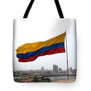 Colombian Flag Over Cartagena Tote Bag