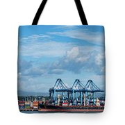 Colon Container Terminal, Panama Canal Tote Bag