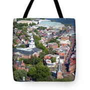 Colonial Annapolis Historic District And Maryland State House Tote Bag