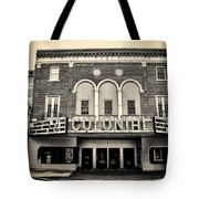 Colonial Theater In Phoenixville In Sepia Tote Bag