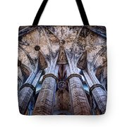 Colonnade And Stained Glass No1 Tote Bag