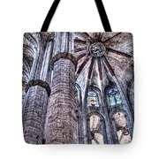 Colonnade And Stained Glass No2 Tote Bag