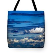 Color Burned Clouds Tote Bag