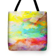 Color Burst Abstract Art  Tote Bag