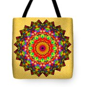 Color Circles Kaleidoscope Tote Bag
