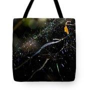 Color Dots Spider Net Tote Bag