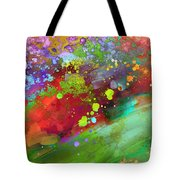 Color Explosion Abstract Art Tote Bag by Ann Powell
