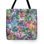 Color Filled Abstract Tote Bag