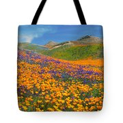 Color Filled Hills Tote Bag