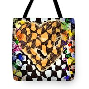 Color Heart Tote Bag