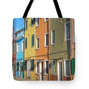 Color Houses In Row Tote Bag