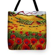Color In The Vineyards Tote Bag