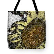 Color Me Sunflower Tote Bag