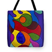 Color My World Bright Tote Bag by Judy M Watts-Rohanna
