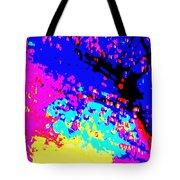 Color Of Rain Abstract Tote Bag