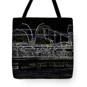 Color Pencil - Visitors On Viewing Plaza On Singapore River Next To The Merlion Tote Bag