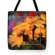 Color Pizzaz With Collaged Textures Tote Bag