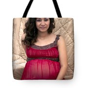 Color Portrait Young Pregnant Spanish Woman I Tote Bag