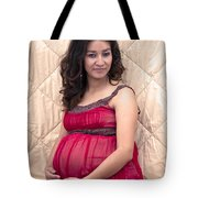 Color Portrait Young Pregnant Spanish Woman II Tote Bag