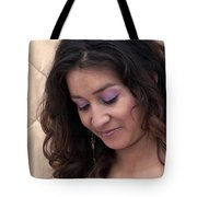 Color Portrait Young Spanish Woman II Tote Bag