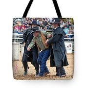Color Rodeo Shootout Deputies Arrest Outlaw Tote Bag