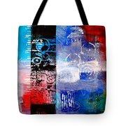 Color Scrap Tote Bag by Nancy Merkle