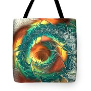 Color Spiral Tote Bag