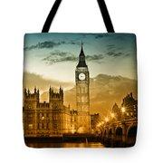 Color Study London Houses Of Parliament Tote Bag by Melanie Viola