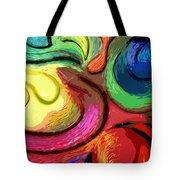 Color Swirl Tote Bag