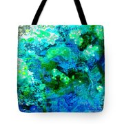 Color Wash Abstract In Blue Tote Bag