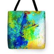 Color Wash Abstract Tote Bag