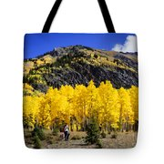 Colorado Autumn Hike Tote Bag