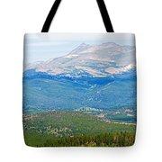 Colorado Continental Divide Panorama Hdr Crop Tote Bag